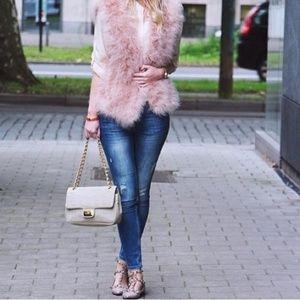 🦄 Blush faux fur vest NWT
